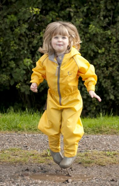 NEW Hippychick Waterproof Yellow Fleece Lined All in One Suit